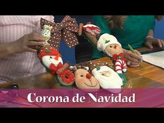 Aprenda y Venda - Corona de Navidad - YouTube Christmas Decorations, Christmas Ornaments, Holiday Decor, Gingerbread Cookies, Teddy Bear, Natal Diy, Toys, Gnome, Crafts