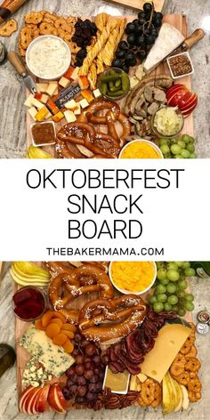 octoberfest food Live like youre at Oktoberfest with this amazing Oktoberfest Snack Board! Its covered in a tasty selection of German-inspired snacks like sliced bratwurst, sauerkraut Charcuterie Recipes, Charcuterie And Cheese Board, Charcuterie Platter, Cheese Boards, Octoberfest Party, Oktoberfest Food, German Oktoberfest, Appetizers For Party, Appetizer Recipes