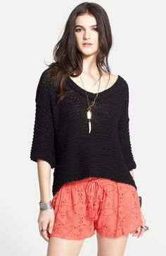 Free People 'Park Slope' V-Neck Textured Sweater available at #Nordstrom