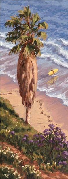 Surfed Out Giclée on Canvas - 12\ x 30\