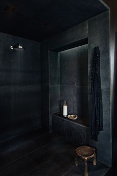 Kona Coast Retreat | Interior Design - Hawaii - Bathroom - Shower - Black #NICOLEHOLLIS Photo by Laure Joliet