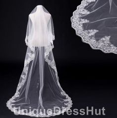 NEW Fashion  Free Shipping lace Wedding Veil by UniqueDressHut, $49.00