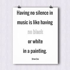 Inspirational Music Quote Print by HomeInAMetronome on Etsy