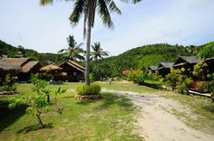 Simple brick and bamboo bungalow resort at Haad Salad on Koh Phangan. My Way Bungalows has a beachfront bar and restaurant with Thai style seating looking out over the sand. The rooms are simply decorated with some Thai touches and have private balconies with hammocks. Wi-Fi is available.  #http://thebeachfrontclub.com/beach-hotel/asia/thailand/koh-pha-ngan/haad-salad-beach/my-way-bungalow/