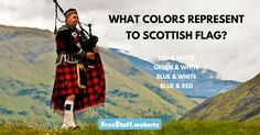 What colours represent to Scottish flag?
