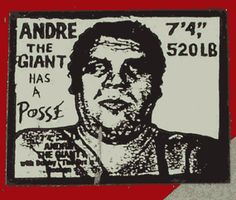 André the Giant Has a Posse, Shepard Fairey.  I wonder if there's any left around Legare St