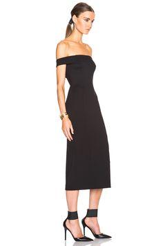 Image 3 of NICHOLAS Shoulder Band Dress in Black