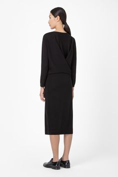COS Crossover back wool dress