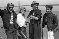 Duran Duran in San Francisco July 1982 for their show at the Kabuki Theater. Photography by Chester Simpson.