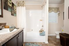 Master bathroom in the Cumberland B25681 - Blue Ridge Choice Collection Modular Ranch Home.