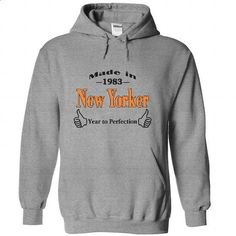 madi in 1983 New Yorker year to perfection - #tshirt estampadas #sweater pillow. GET YOURS => https://www.sunfrog.com/Birth-Years/madi-in-1983-New-Yorker-year-t-perfection-4750-SportsGrey-22208212-Hoodie.html?68278