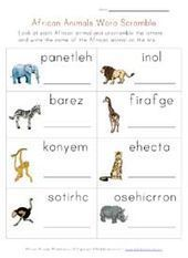 Animals worksheets - african animals zoo activities for kids Educational Activities For Kids, Animal Activities, Fun Learning, Alphabet Activities, Teaching Activities, Animal Worksheets, Worksheets For Kids, African Animals Names, Jungle Animals