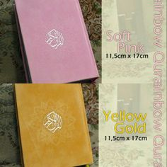Al-Quran Rainbow 11,5X17cm avail Soft Pink, Yellow Gold @ 160 K GRAB IT FAST :D