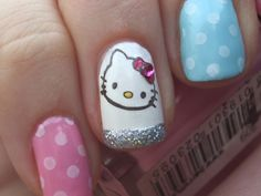 A sticker on one nail, and then something less crazy on the others? Yeah...I'm in.