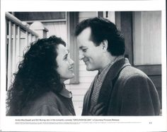 Andie MacDowell and Bill Murray - Groundhog Day Photography Movies, Film Blade Runner, Bill Murray, Groundhog Day, Christopher Nolan, French Films, Indie Movies, Romantic Movies, Film Quotes