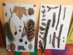 Painel sensorial com o tema outono