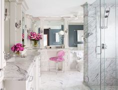 Preciously Me blog : Marble Bathroom