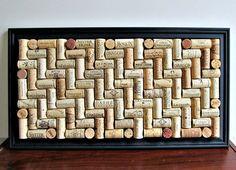 Wine Cork Board  Long Black Frame  Office by LizzieJoeDesigns