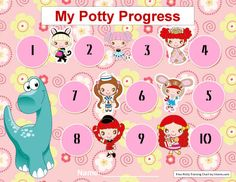My Potty Progress Training Chart Template for Girls Printable Reward Charts, Free Printables, Google Doc Templates, Resume Builder, Head Start, Potty Training, Dog Walking, Resume Templates, Microsoft