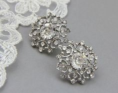 Bridal earrings Wedding stud earrings. by LavenderByJurgita, $35.00