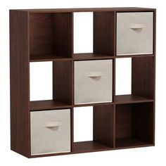 features 9cube storage in a beautiful cherry finish 3 tan