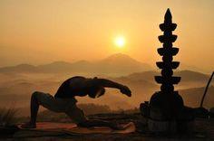 Yoga sunset Silhouette
