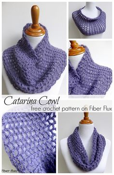 Free pattern on Ravelry Catarina cowl by Fiber Flux