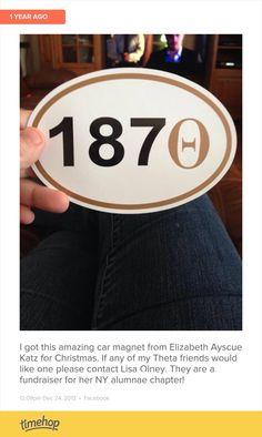 Kappa Alpha Theta sticker.
