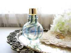 Vintage Perfume Bottle Small Perfume Bottle Vanity by AllieEtCie