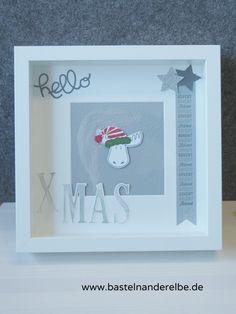 Ribba Rahmen dekoriert mit Stampin` Up!, Jolly Friends, Weihnachtspotpourri