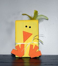 Spring block Chick by ATreasureRedefined on Etsy