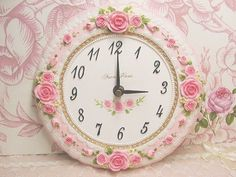 Pink rose clock shared by ŚĤŶ-ČĤÁŃ on We Heart It Kitsch, Rose Clock, Biscuit, Daylight Savings Time, Romantic Cottage, Romantic Homes, Rose Cottage, Favim, So Little Time
