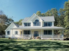 the perfect Country home with wrap-around porch! - plan 038D-0023 - houseplansandmore.com