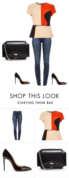 """Untitled #561"" by martinmel-mlm ❤ liked on Polyvore featuring J Brand, River Island, Christian Louboutin and Givenchy"