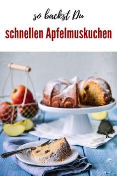 Schneller Apfelmuskuchen rettet den Sonntag - Kochen macht glücklich Sweet Bakery, Fabulous Foods, Good Food, Brunch, Vegetarian, Favorite Recipes, Food Blogs, Dinner, Easy Peasy