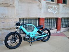 puch maxi to the max Moped Bike, 50cc Moped, Motorcycle Bike, Custom Moped, Custom Bikes, Chopper, Vintage Moped, Honda Cub, Cafe Racer Build