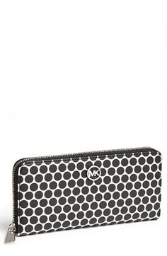 MICHAEL Michael Kors 'Kiki' Zip Around Continental Wallet available at #Nordstrom