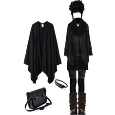 One of my fav' goth oufit #5 by missvespera on Polyvore featuring polyvore fashion style The Row Boohoo Carven H&M Alexander McQueen Zatchels Topshop