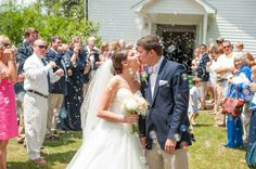 A great wedding exit at Collins Ole Towne in SC. Photo by @SouthernJewelPB