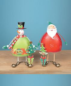 Take a look at this Whimsical Santa & Snowman Décor Set by Transpac Imports on #zulily today!