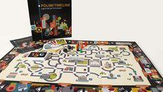 Polimi Timeline - boardgame illustration by Chiara Vercesi, via Behance