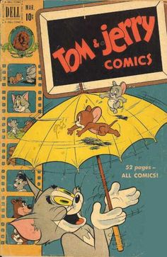Tom and Jerry Dell/Gold Key) 80 Hippie Wallpaper, Retro Wallpaper, Disney Wallpaper, Cartoon Wallpaper, Vintage Disney Posters, Vintage Cartoon, Vintage Comics, Poster Retro, Cute Poster