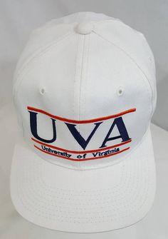 quality design 13763 ca6fe Virginia Cavaliers The Game Glue Tag 3 Bars Snapback Hat UVA Wahoos Ncaa  College Football Basketball Baseball Rare
