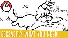 Simon's Cat Chases an Evasive Bunny Amongst Easter Eggs and a Helpful Garden Gnome