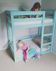 My Little Deers: Mini Bunk Beds for Toddlers! Fits a CRIB size matress!