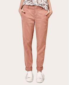 Pantalon chino ARDOISE - Couleur CANYON ROSE Pantalon Chino Femme 3aad1fbc10a
