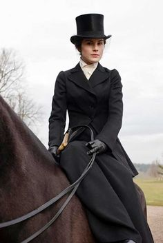Lady Mary Crawley rides in the local hunt's point-to-point