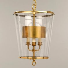 "Vaughan Designs   Zurich Lantern   avail in nickel, brass or bronze   large: 22.5""h x 16.5""dia   3-light with metal interior shade"