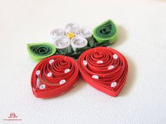 quilling strawberry, quilled fruit