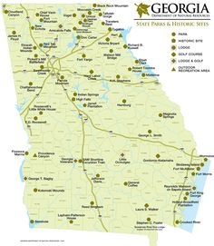 Georgia State Park Sites Map Tips And Tricks For The Outdoors - Map of georgia united states